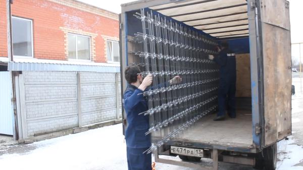 Погрузка композитной сетки BASIS — 300 м.кв. за 10 минут !!!