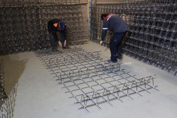 Изготовление пространственного каркаса из композитной сетки BASIS