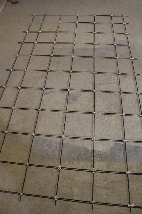 Стеклопластиковая сетка для дорожных плит