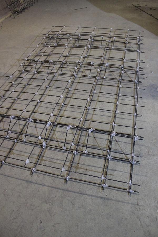 арматурный каркас для дорожной плиты