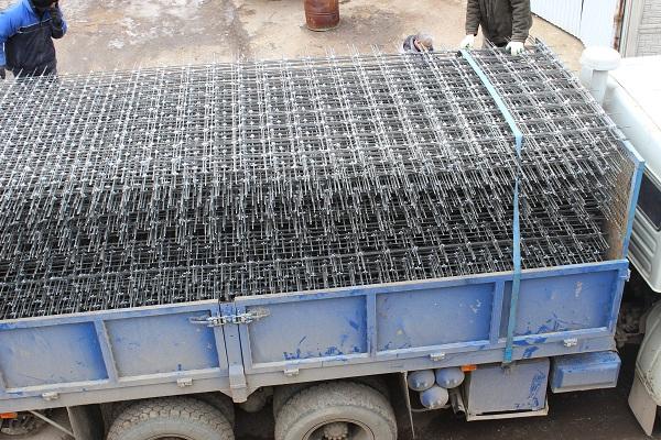 композитная сетка для армирования бетона погрузка