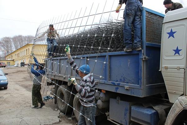 композитная сетка для бетона погрузка
