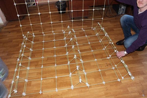 Стеклопластиковая сетка сборка каркаса