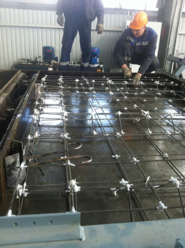 Испытания дорожной плиты с применением композитной сетки BASIS